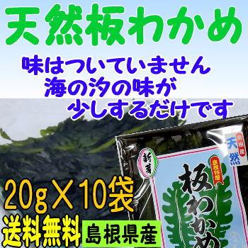 【30年産】【送料無料】島根県の特産【お土産】天然板わかめ10袋セット【若布】【めのは】【RCP】