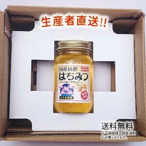 令和3年度産 国産 純粋 はちみつ【送料無料】300g(れんげ畑から届きました) 日本製 はちみつ ハチミツ ハニー HONEY 蜂蜜 瓶詰 生産者直送 愛媛県産 国産蜂蜜 国産ハチミツ 送料無料