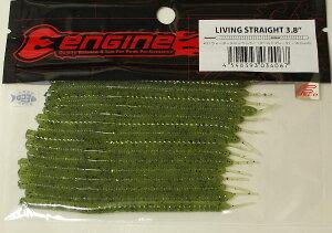 エンジンリビングストレート3.8インチ(16個入)#21 ウォーターメロンペッパー(ゴールドフレーク)