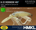 ハンクル K-IIミノー 40FS.M.VI