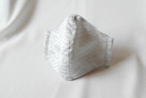 【メール便可】和柄立体マスク サヤ型 薄グレー