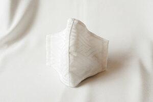 【メール便可】和柄立体マスク サヤ型 白