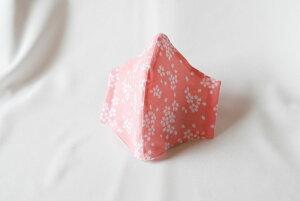 【メール便可】和柄立体マスク さくらちらし ピンク