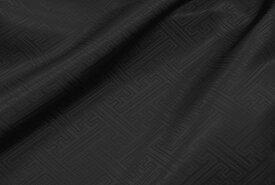 【和柄織生地】ポリエステル紗綾型柄 黒色 【1mまでメール便可】