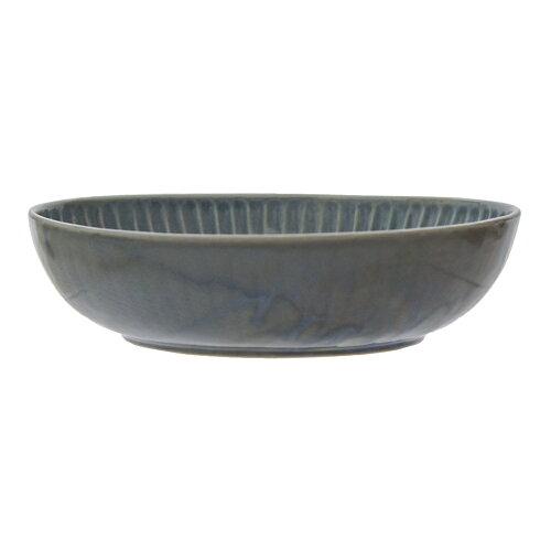 カノンしのぎ楕円鉢グレイ