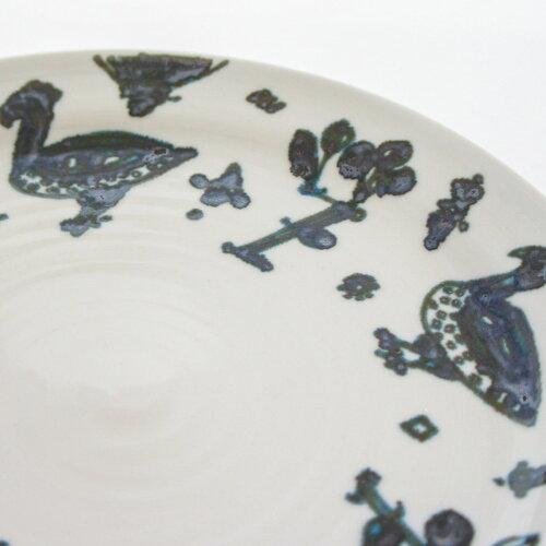 ほろほろ鳥更紗紋7寸皿