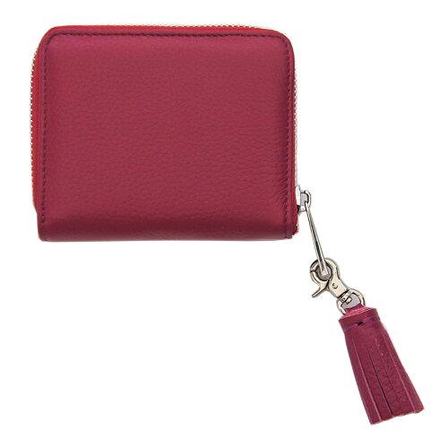 ビュレファスナー二ツ折財布ピンク
