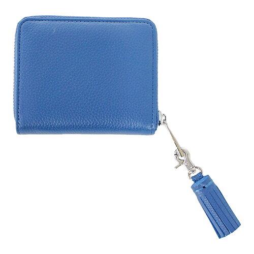 BEAURE(ビュレ)ファスナー二ツ折財布スモーキーブルー