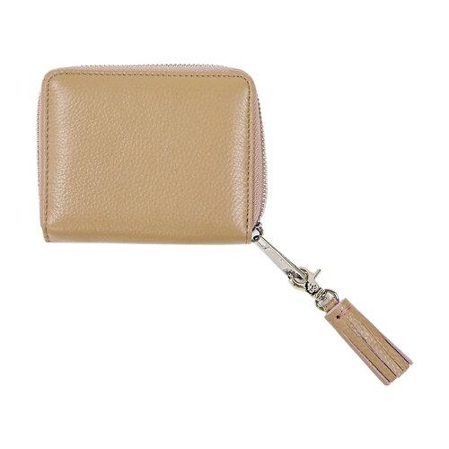 ビュレファスナー二ツ折財布スモーキーピンク