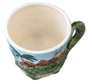 【恐竜マグカップ】オフィス、ご自宅、ダイナソーズ飛び出る立体感カップペンタテ恐竜のくるりしっぽマグ