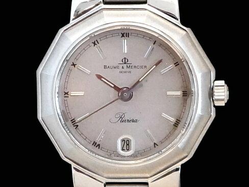 【USED】 ボーム&メルシェ - BAUME&MERCIER - リビエラ SS/SS  クオーツ レディース 桜新町 腕時計 【中古】