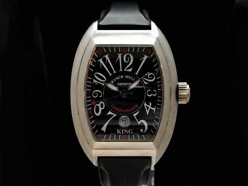 【USED】 フランクミュラー - FRANCK MULLER - コンキスタドール キング 8005 SC 18KWG/ラバー 自動 メンズ 腕時計【中古】