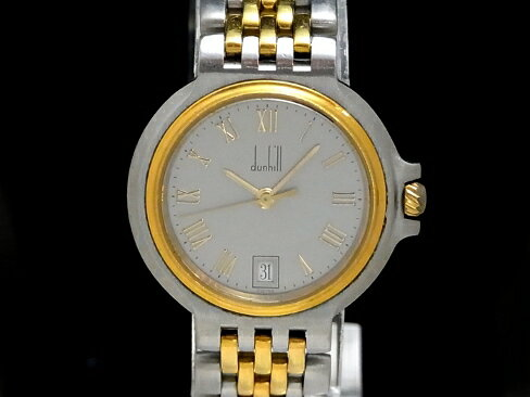 【USED】 ダンヒル -DUNHILL- ミレニアム ローマンインデックス YGP/SS クオーツ グレイ文字盤 レディース 腕時計【中古】