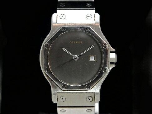 【USED】 カルティエ - CARTIER - サントス ラウンド オクタゴン SS/SS 自動 ボーイズ 【Luxury Brand Selection】腕時計 【中古】