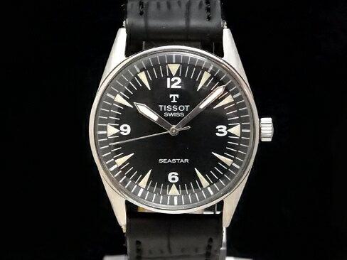 【USED】 ティソ -TISSOT- シースター ミリタリー ヴィンテージ SS/革 手巻き ミディアム 腕時計【中古】