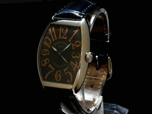 【USED】 フランクミュラー - FRANCK MULLER - カサブランカ 6850 CASA SSケース/革ベルト 黒文字盤 自動 メンズ 腕時計【中古】