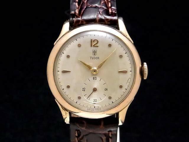【USED】 チュードル - TUDOR - 小薔薇(コバラ) 希少・スモセコ! 手巻き シルバー文字盤 手巻き ボーイズ 腕時計 【中古】