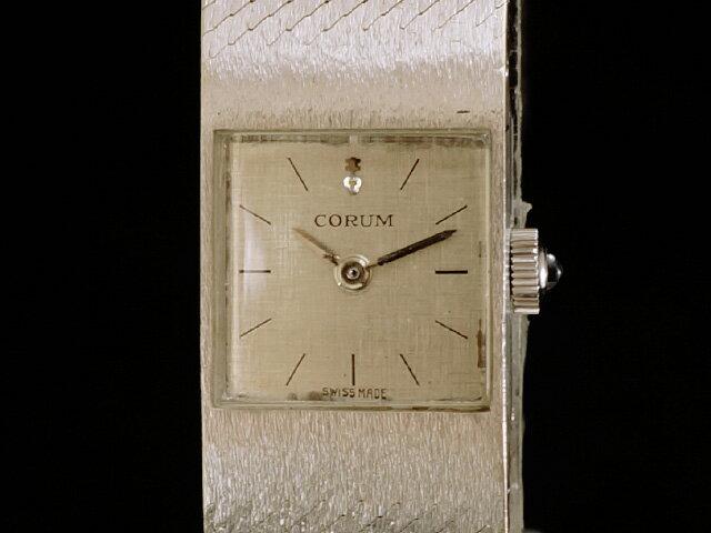 【USED】 コルム - CORUM - スクエア 18KWG 金無垢 手巻き レディース 腕時計 【中古】