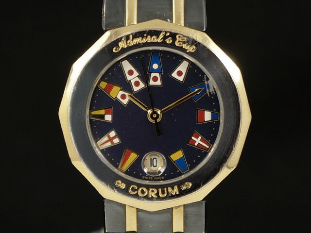【USED】 コルム - CORUM - アドミラルズカップ 18KYG/SS クオーツ ネイビーダイヤル 39.610.31.V-52 腕時計【中古】