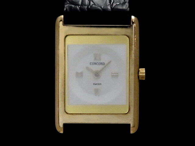 【USED】 コンコルド - CONCORD - デリリューム クオーツ 18KYG/革 レディース 腕時計 (中古)