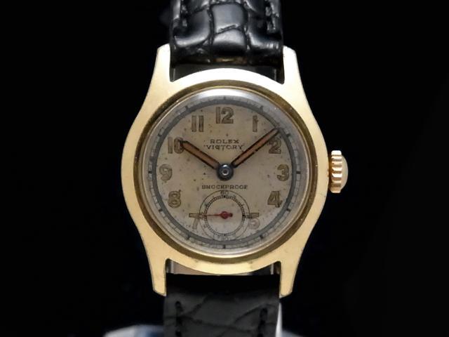 【USED】 ロレックス - ROLEX - ヴィクトリー ミリタリー スモセコ cal.59搭載 希少モデル! YGP/SS/革 手巻き ボーイズ 腕時計【Luxury Brand Selection】【中古】