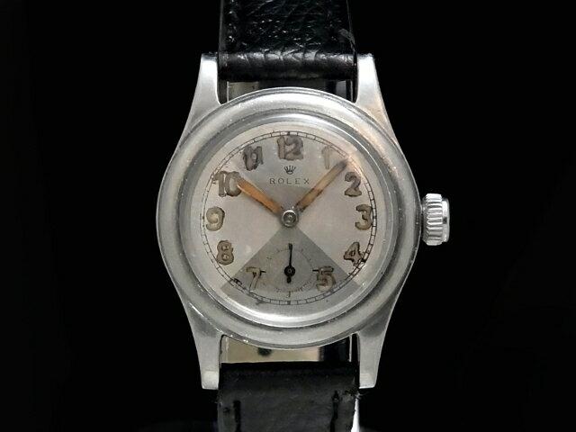 【USED】 ロレックス - ROLEX - ロレックス ヴィンテージ スモセコ アラビアン cal.59搭載 希少モデル! SS/革 手巻き ボーイズ 腕時計【Luxury Brand Selection】【中古】
