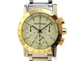 【USED】 ジラールペルゴ - GIRARD PERREGAUX - GP7700 クロノグラフ コンビ 白 ホワイト ダイヤル クォーツ 希少! 美品 YG・SS メンズ 腕時計 【中古】