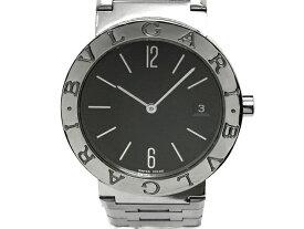 【USED】 ブルガリ - BVLGARI - ブルガリブルガリ BB33SS 黒 ブラック ダイヤル 美品! SS/SS クオーツ メンズ ボーイズ レディース 腕時計 【Luxury Brand Selection】 【中古】