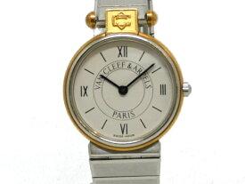 【USED】 ヴァンクリーフ&アーペル -VAN CLEEF & ARPELS - ラ・コレクション YGP/SS 白文字盤 クオーツ レディース 【中古】 腕時計