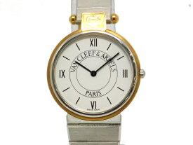 【USED】 ヴァンクリーフ&アーペル -VAN CLEEF & ARPELS - ラ・コレクション YGP/SS 白文字盤 クオーツメンズ ボーイズ 【中古】 腕時計