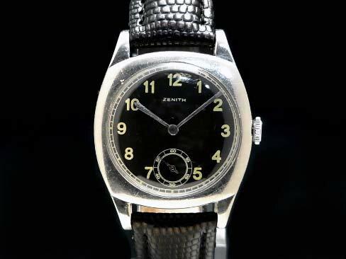 【USED】 ゼニス - ZENITH - クッションケース スモセコ ヴィンテージ SS/革 手巻き ボーイズ 桜新町 腕時計 【中古】