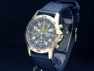 Seiko – SEIKO chronograph SND379P2 SS / nylon imports machine men