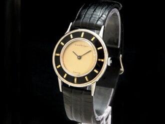 ジラールペルゴ - GIRARD PERREGAUX - rare Fe two-tone color! Round rolling by hand SS/ leather men Sakurashimmachi