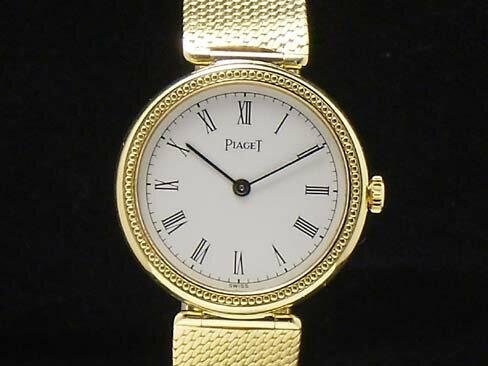 【USED】 ピアジェ -PIAGET- ラウンド ローマンインデックス 手巻き 金無垢 レディース 腕時計【中古】