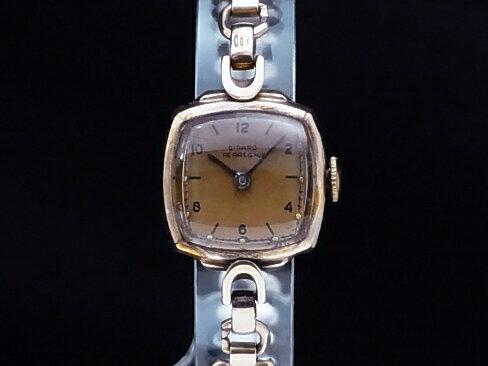 【USED】 ジラール・ペルゴ - GIRARD PERREGAUX - アンティーク スクエア ピンク 手巻き レア物! 腕時計【中古】