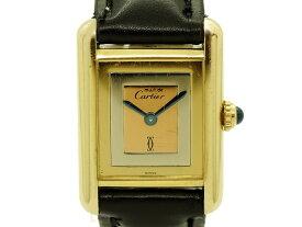 【USED】 カルティエ - CARTIER - マストタンク  スリーカラー ゴールド YGP / 革 クオーツ レディース 腕時計 【Luxury Brand Selection】 【中古】