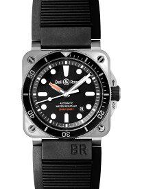 【新品】ベル&ロス BR0392-D-BL-ST/SRB BR03-92 ダイバー SS/ラバー 自動巻き ブラック メンズ