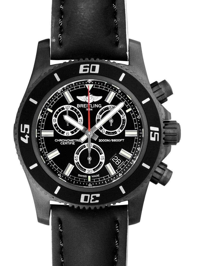 【新品】ブライトリング M73310B7/BB73 スーパーオーシャン クロノグラフ M2000 ブラックスチール/ブラックレザー スーパークオーツ ブラック メンズ 世界限定250本
