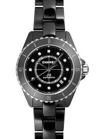 【新品】シャネル J12 H5702 ブラックセラミック 38ミリ ブラックダイアル 12Pダイヤモンド 自動巻き メンズ