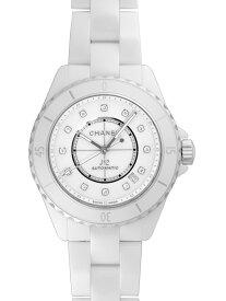 【新品】シャネル J12 H5705 ホワイトセラミック 38ミリ ホワイトダイアル 12Pダイヤモンド 自動巻き メンズ