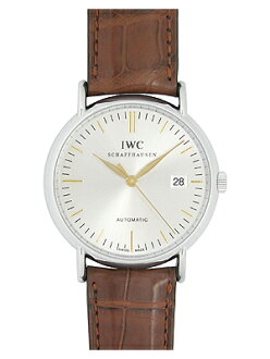IWC 맨즈 IW356303 포트피노오트마틱 SS/브라운 레더 실버 자동감김