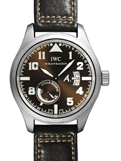 IWC 파일럿 워치 맨즈 안토와느・드・생텍쥐베리 파워 리저브 브라운 문자판 SS/브라운 버팔로 레더 자동감김 Ref: IW320104《2007년・1178개 한정 모델!》