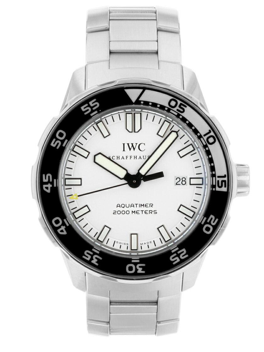 【中古】IWC IW356809 アクアタイマー オートマティック2000 ホワイト文字盤 SSブレス 自動巻き メンズ