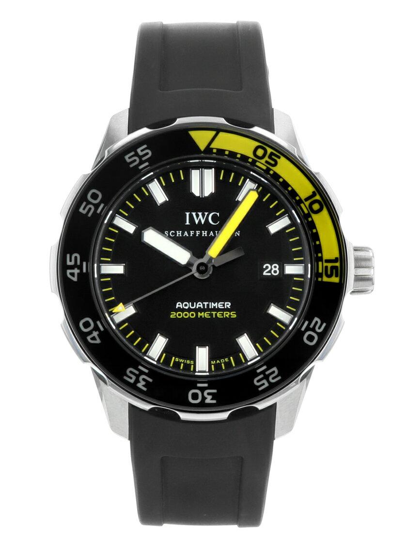 【中古】IWC アクアタイマー オートマティック2000 ブラック文字盤 SS/ブラックラバー メンズ 自動巻き IW356802