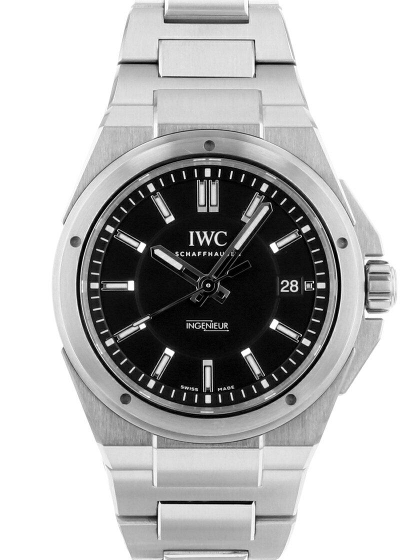 【中古】IWC IW323902 インヂュニアブラック文字盤 SSブレス 自動巻き 《人気モデル》