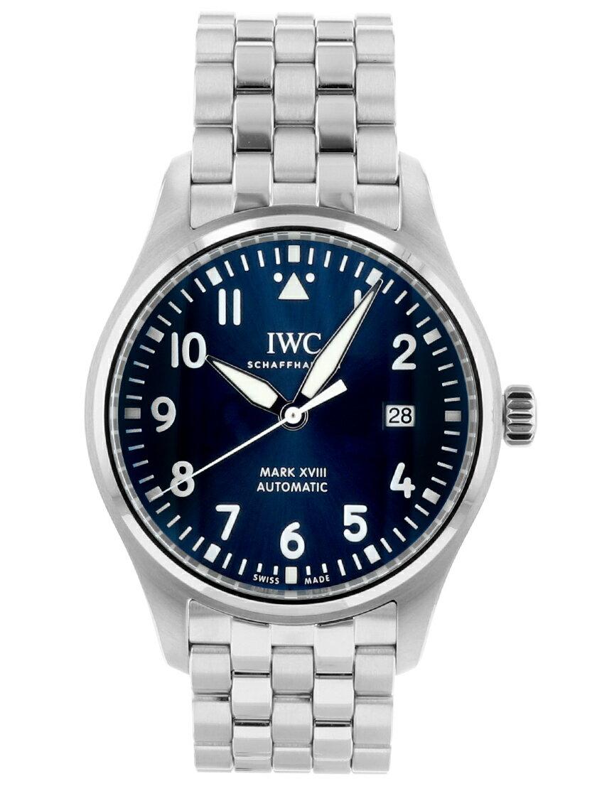 【中古】IWC Ref.IW327014 パイロットウォッチ マーク18 プティ・プランス SS ブルー文字盤 自動巻き