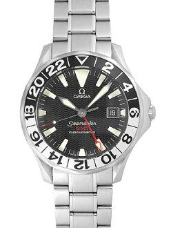 오메가 시마 스타 GMT 300 m Ref : 2536.50 SS자동감김 블랙 맨즈 제리 로페스 일본 국내 999개 한정 모델《프로다이바즈워치》