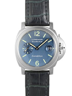 panerai PAM00070魯米那小船塢40mm藍色表盤SS/藍色皮革自動卷D輪到《生產結束型號·大修已經的!》
