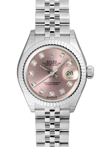 【新品】ロレックス 279174G SS/WGベゼル レディースデイトジャスト28 ピンク 10Pダイヤモンド 自動巻き