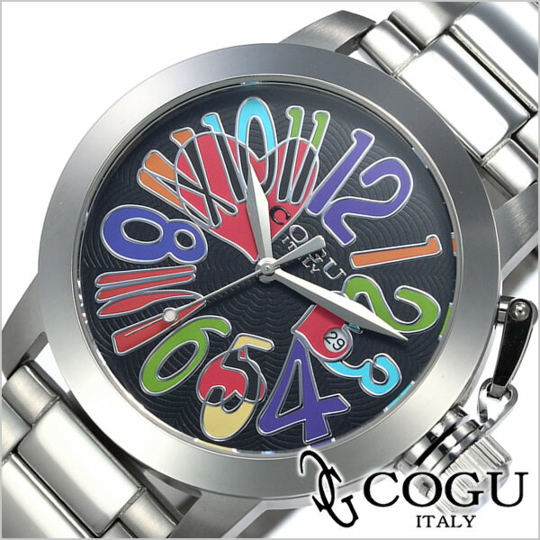 コグ腕時計[ COGU時計 ]( COGU 腕時計 コグ 時計 ) マルチカラー メンズ レディース 男女兼用時計 ブラック CHS-BKC[当店限定先行受注アイテム][送料無料][プレゼント ギフト][あす楽][卒業 入学 就職 祝い 中学生 高校生 大学生 社会人]